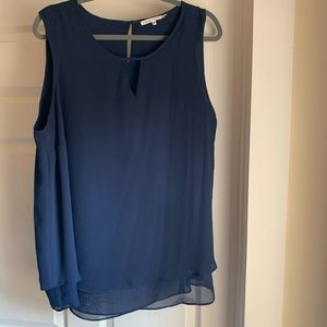 Violet & Claire navy blue sleeveless blouse